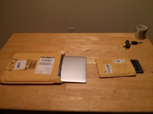 Macbook in manila envelope